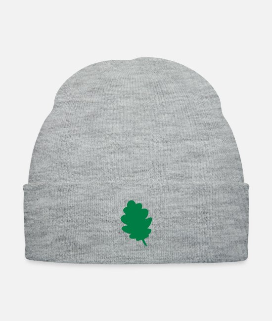 Stag Caps & Hats - Leaf oak tree - Knit Cap heather gray
