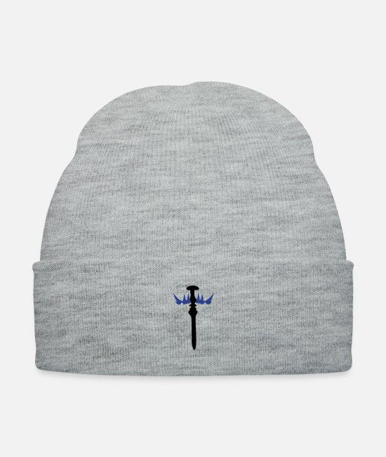 Pattern Caps & Hats - sword 11 - Knit Cap heather gray
