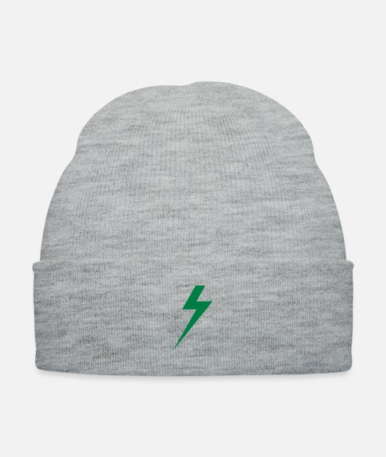Shock Caps & Hats - bolt - Knit Cap heather gray