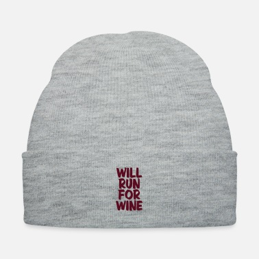 Wine WILL RUN FOR WINE - Knit Cap