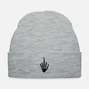 Finger Skeleton Finger, Middle Finger - Knit Cap