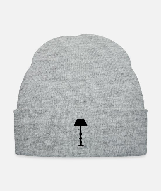 Design Caps & Hats - stand lamp c1 - Knit Cap heather gray