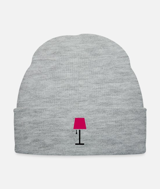 Afternoon Caps & Hats - retro lounge lamp - Knit Cap heather gray