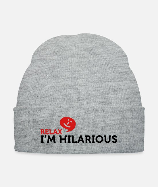 Miscellaneous Caps & Hats - Relax Im Hilarious (2c) - Knit Cap heather gray