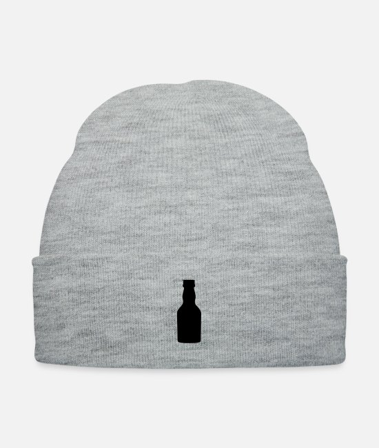 Wine Caps & Hats - Liquor bottle - Knit Cap heather gray