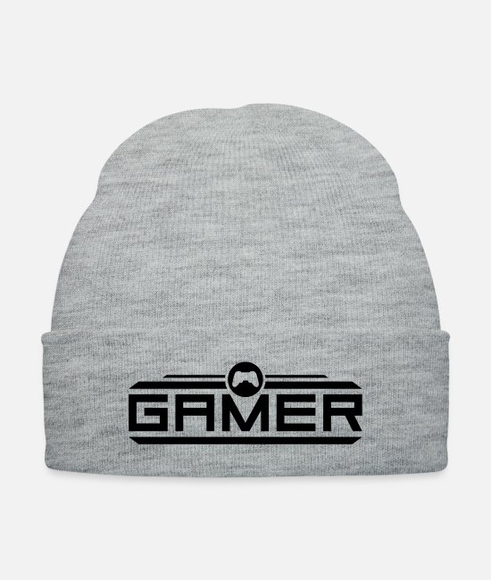 Play Caps & Hats - gamer_f1 - Knit Cap heather gray