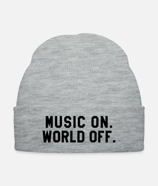 Singer Caps & Hats - (music_on1) - Knit Cap heather gray