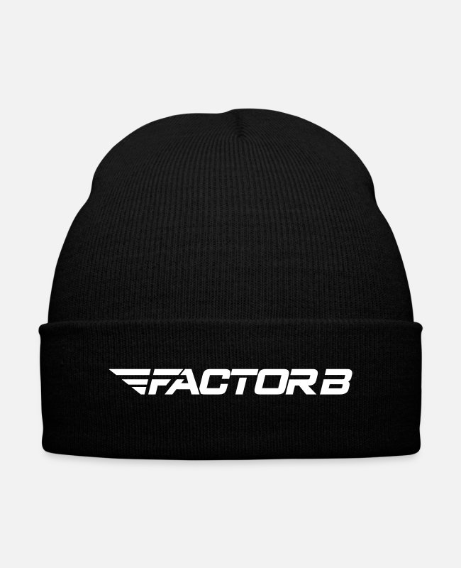 Factorb Caps & Hats - FBW White - Knit Cap black