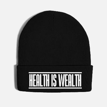 Health health is wealth - Knit Cap