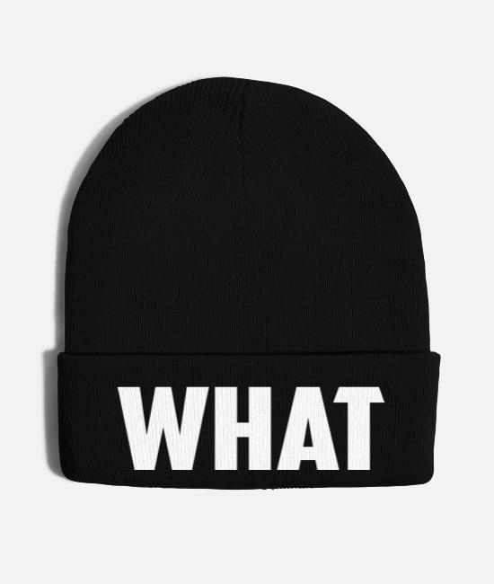 Quote Caps & Hats - what word - Knit Cap black