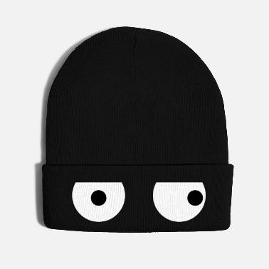 Creative Funny Squint Eyes - Creative Design - Knit Cap