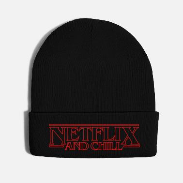 Television Netflix and Chill Stranger Things Logo Eleven Font - Knit Cap