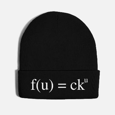 Mathematics mathematical insult | Fuck you - Knit Cap
