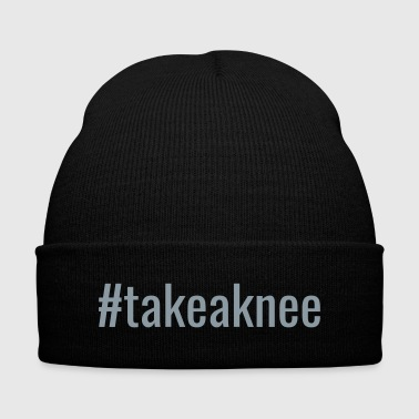 #takeaknee - Knit Cap with Cuff Print
