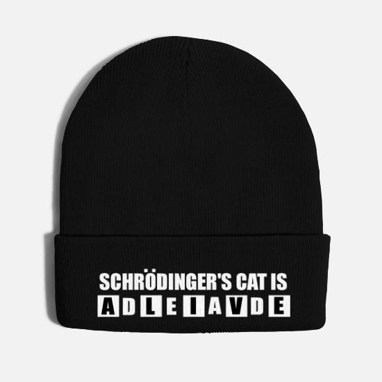 Cool Caps - schrodingers cat cool geek quote - Knit Cap black