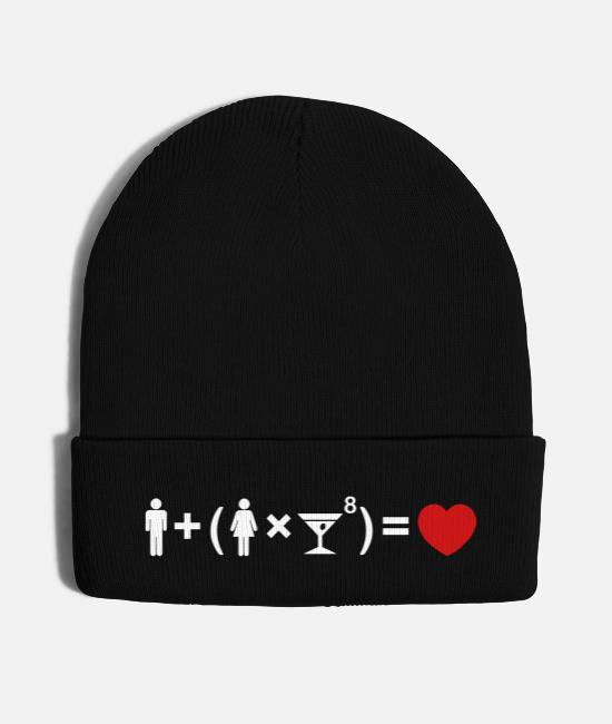 Maths Caps & Hats - The Love Equation for Women - Knit Cap black