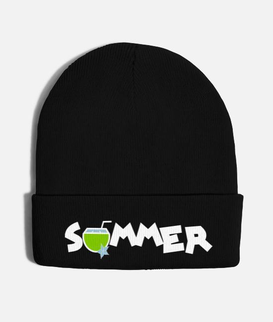 Nature Caps & Hats - summer drink coconut water - Knit Cap black