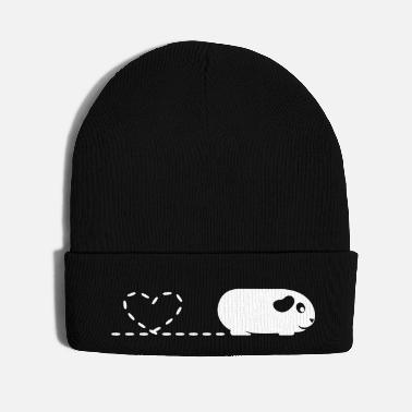Clever Pooping Heart Guinea Pig - Knit Cap