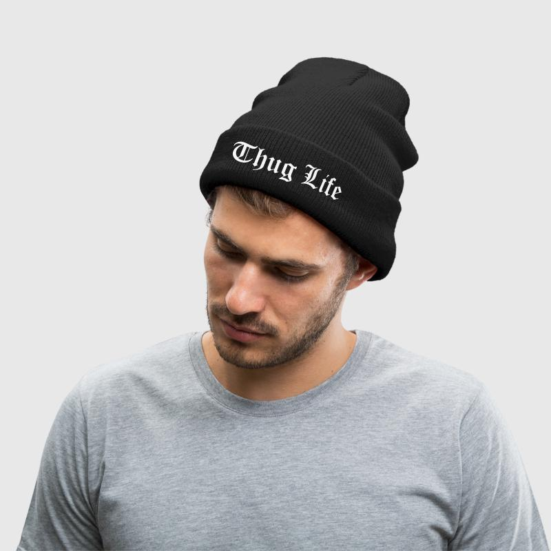 Thug Life - Knit Cap with Cuff Print