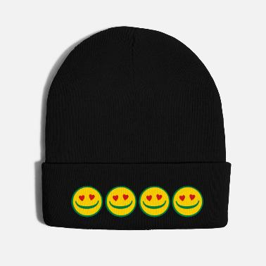 ✔❤I am in Love Smileys-Romantic Cute Smileys❤✔ - Knit Cap