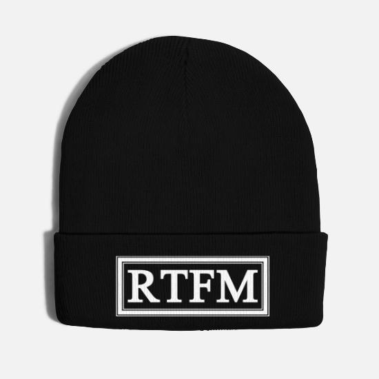 Hacker Caps - RTFM - Knit Cap black