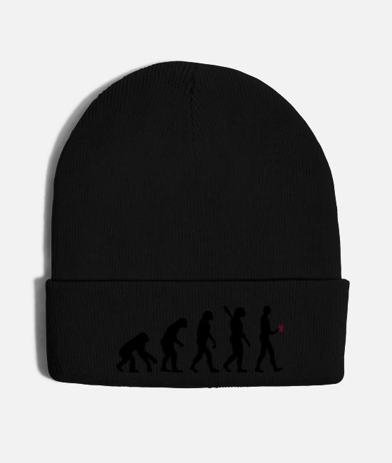 Coffee With Shot Caps & Hats - Coffee Evolution Milk Coffee Espresso Cappuccino - Knit Cap black