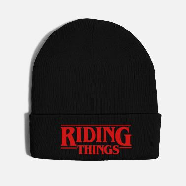 Bike Riding Things 80's retro bike BMX Vintage Bicycle - Knit Cap