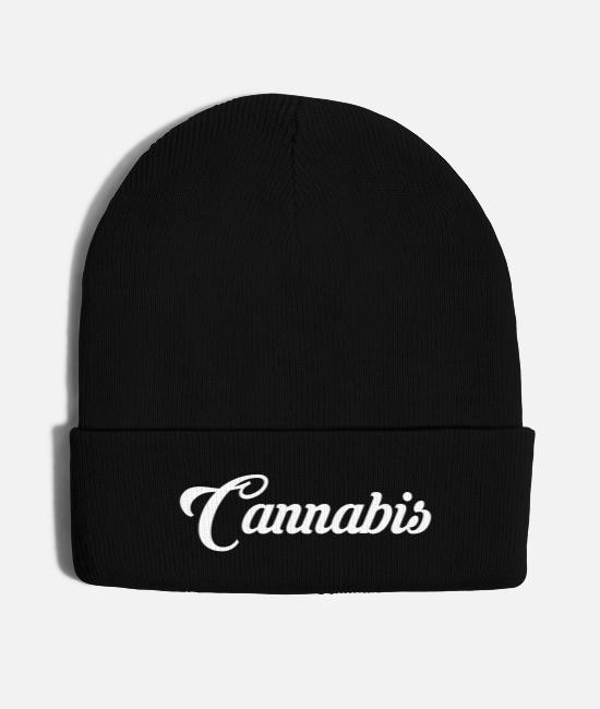 Cannabis Caps & Hats - cannabis bestseller - Knit Cap black
