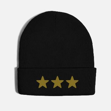 Gold gold stars - Knit Cap