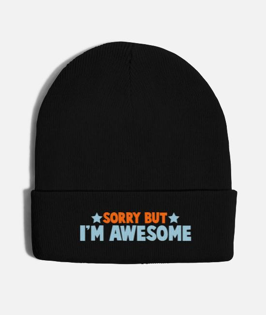 Boogie Caps & Hats - SORRY BUT IM AWESOME - Knit Cap black