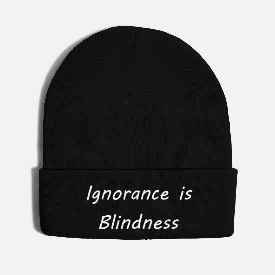 Blind Caps - Ignorance is blindness - Knit Cap black