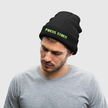 Press Start! - Knit Cap with Cuff Print