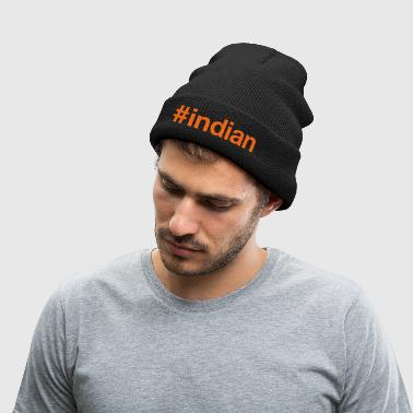 INDIA - Knit Cap with Cuff Print