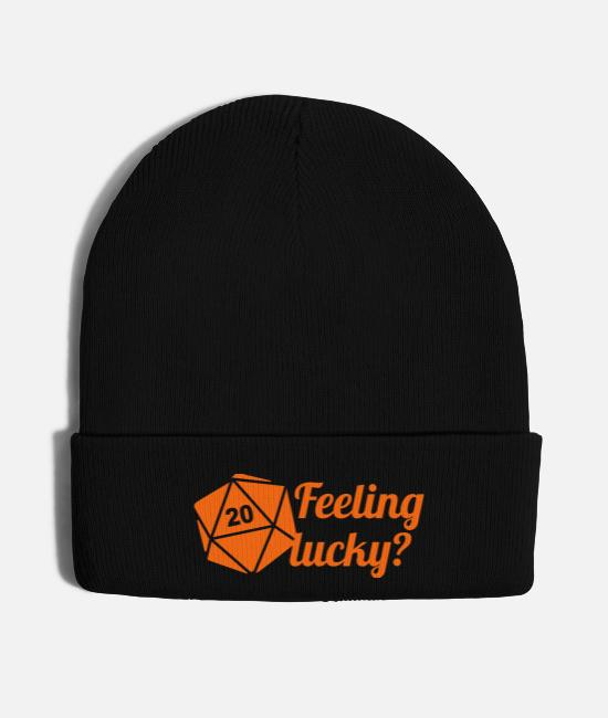 Dungeons Caps & Hats - Feeling lucky? d20 - Knit Cap black