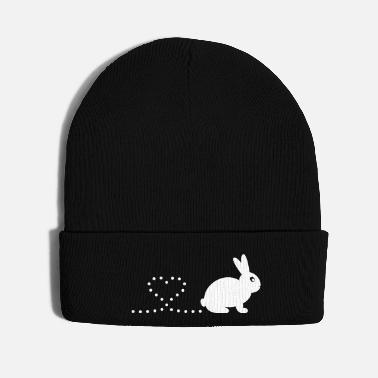 Clever Pooping Heart Rabbit - Knit Cap
