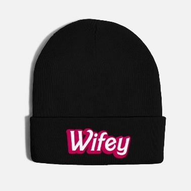 Girlie Wifey Wife woman in cute girly font - Knit Cap