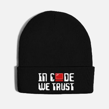 In Code We Trust Computer - Knit Cap