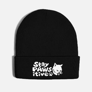 Paw Stay Positive Optimistic Cat - Knit Cap