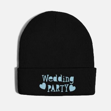 Funky wedding party new vintage funky font - Knit Cap