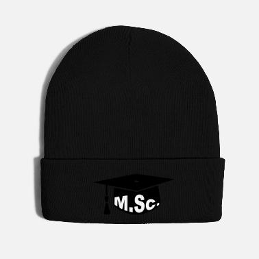Student master of science mortarboard graduation - Knit Cap