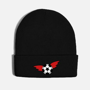 Championship Soccer wing black red gold championship Germany - Knit Cap