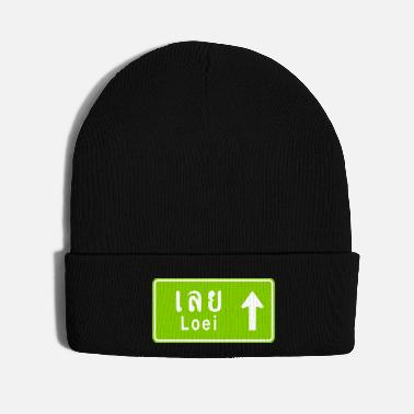 Thailand Loei, Thailand / Highway Road Traffic Sign - Knit Cap