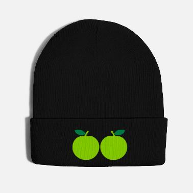 Green Text ♥ټEat More Fresh Green Apples-Best Fruitټ♥ - Knit Cap