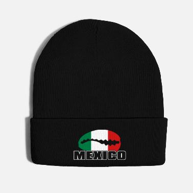 Mexican Mexican flag in cowrie - Knit Cap