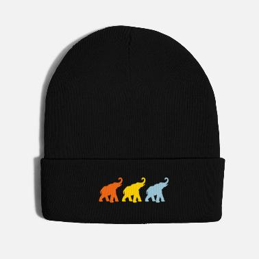 India Three Elephants Yoga India Meditation om - Knit Cap
