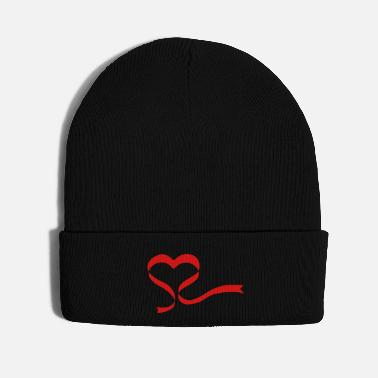 Passed Ribbon Heart - Knit Cap