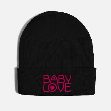 Lovely baby love cute font with love hearts lovely! - Knit Cap