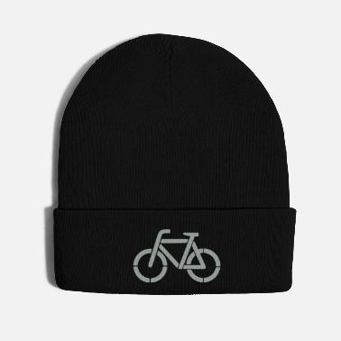 Stencil bicycle stencil - Knit Cap