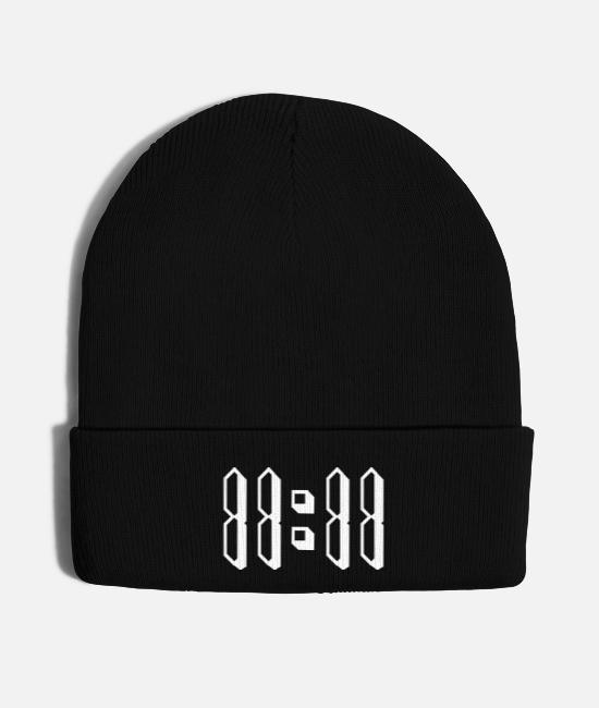 11 Caps & Hats - 11:11 eleven number synchronicity numerology - Knit Cap black