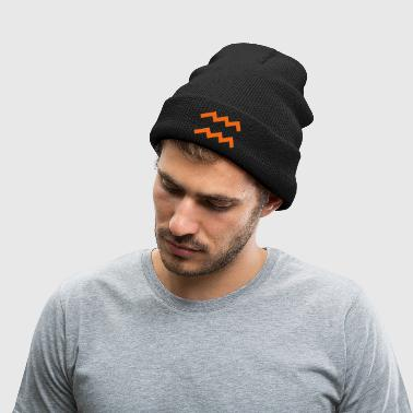 Aquarius - Knit Cap with Cuff Print